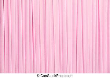 ピンク, カーテン, 手ざわり
