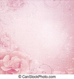 ピンク, グランジ, 背景, 結婚式