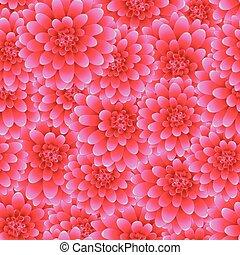 ピンク, スタイル, seamless, 2, 背景, ダリア