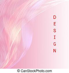 ピンク, デザイン, 魅力的, 背景, 線, 言葉遣い