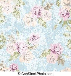 ピンク, パステルパターン, seamless, ばら, ベクトル, 花