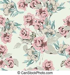 ピンク, パステルパターン, seamless, ばら, 花