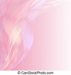 ピンク, パステル, 抽象的, 魅力的, 背景, 線