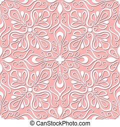 ピンク, パターン, レース, 背景, seamless