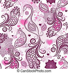 ピンク, パターン, 繰り返すこと, バレンタイン