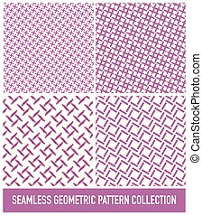ピンク, パターン, seamless, コレクション, 交差点, 長方形