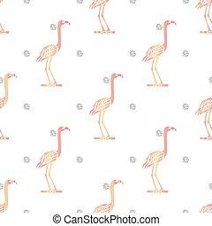 ピンク, パターン, seamless, 銀, 背景, きらめき, 鳥, 点
