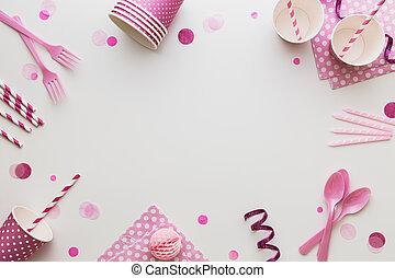 ピンク, パーティー, 背景