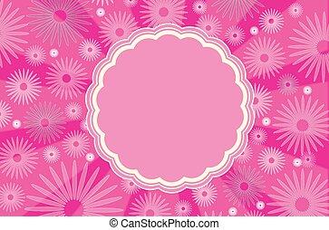 ピンク, フレーム, 背景