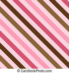 ピンク, ブラウン, ストライプ