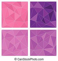 ピンク, ベクトル, 三角形, すみれ