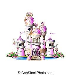 ピンク, マジック, 城
