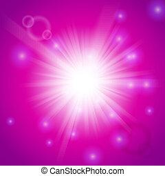ピンク, ライト, 抽象的, マジック, 背景