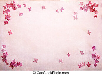 ピンク, ライラック, 花弁, フレーム