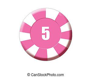 ピンク, ルーレット, チップ