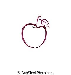 ピンク, ロゴ, アップル