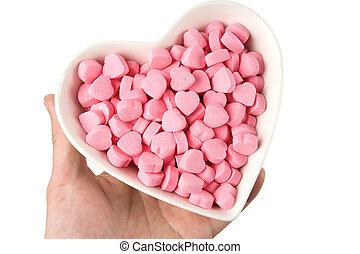 ピンク, 中心の 形, キャンデー