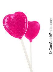 ピンク, 中心の 形, lollipop