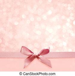 ピンク, 休日, 弓, boke, 背景, 絹