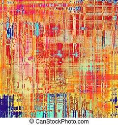 ピンク, 別, (orange);, 古い, 色, 抽象的, 黄色, (beige);, blue;, 背景, patterns:, グランジ, texture., 赤