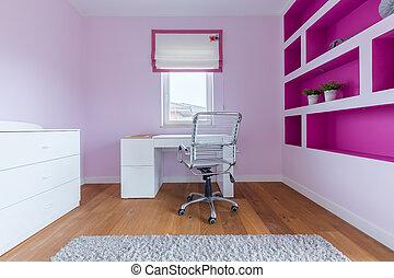 ピンク, 勉強しなさい, 部屋