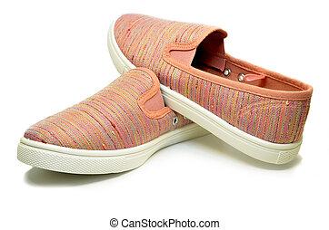 ピンク, 動くこと, スポーツの靴
