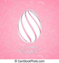 ピンク, 卵, イースター, 背景