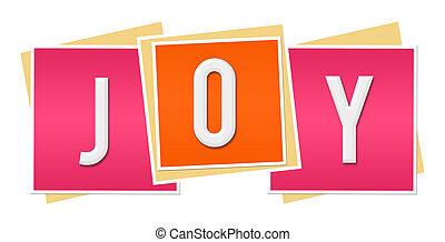 ピンク, 喜び, ブロック, オレンジ