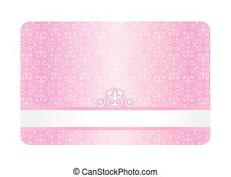 ピンク, 型, カード, パターン