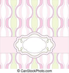 ピンク, 型, カード