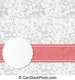 ピンク, 型, フレーム, イラスト, ベクトル, リボン