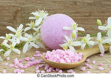 ピンク, 塩, 爆弾, 浴室