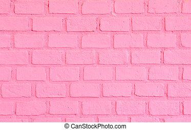 ピンク, 壁, れんが