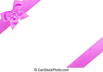 ピンク, 対角線, 弓
