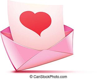 ピンク, 封筒