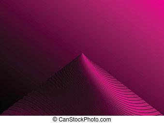 ピンク, 山, 抽象的, ピークに達しなさい