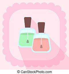 ピンク, 平ら, 釘, 背景, ポーランド語, アイコン