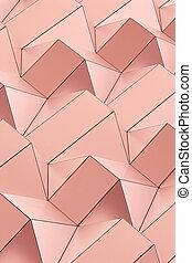 ピンク, 幾何学, gold., 色, 建築である, 最新流行である