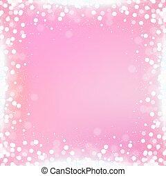 ピンク, 広場, 勾配, bokeh, 背景, ボーダー