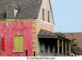ピンク, 建物, 古い