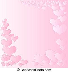 ピンク, 心, フレーム