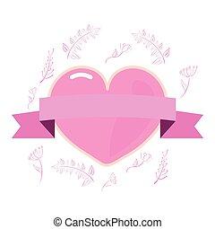ピンク, 心, 女の子 力