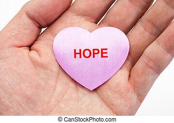 ピンク, 心, 希望