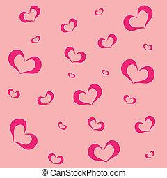 ピンク, 心, 背景