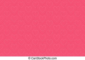ピンク, 心, -, 背景, seaml