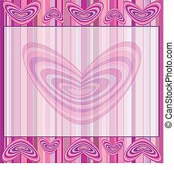 ピンク, 心, str, 背景