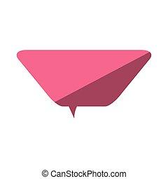 ピンク, 愛, スピーチ, 対話, メッセージ, 泡