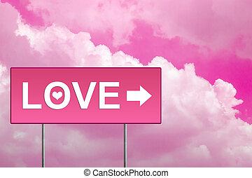 ピンク, 愛, 道 印