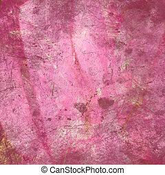 ピンク, 抽象的, グランジ, 背景, textured