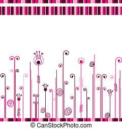 ピンク, 抽象的, ライン, 背景